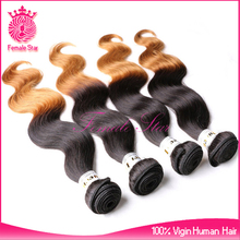 china products indonesia remy human hair ombre hair extension