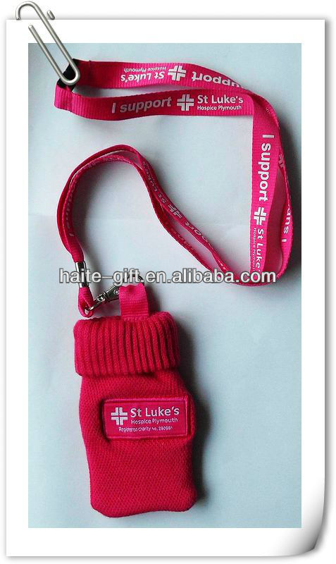funny cell phone holder with lanyard