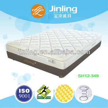 Bonnell spring mattress with convoluted foam in topper