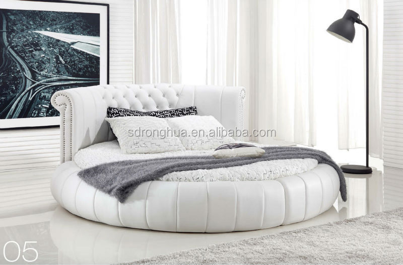 K612 Luxury Furniture Modern Leather Round Bed Buy Pink