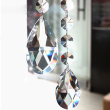 China Supplier Chandelier Parts Glass Crystals Lamp Prisms Parts Hanging Drops Pendants