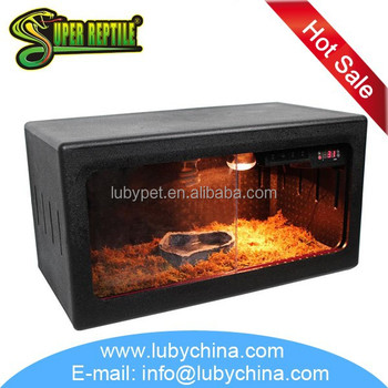 60cm/76cm PVC reptile cage breeding terrarium, with lampholder and thermometer inside