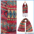 American Fashionable Red Tribal Women Scarf