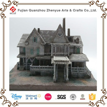 Custom resin building model,Home decoration house statues