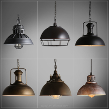 Industrial Vintage metal lamp wire cage hanging different style loft lamp for decoration