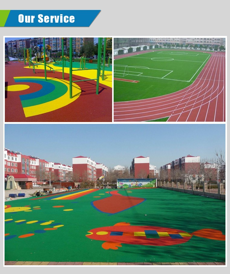 Outdoor Rubber Basketball Courts Surfacing With Colored EPDM Granules