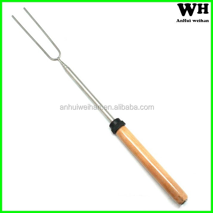 Disposable stainless steel BBQ stick, marshmallow roasting sticks