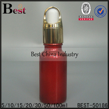50 ml Ruby Red essential oil bottles with dropper cap