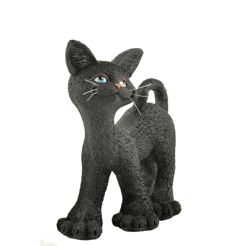 Polyresin hotsale walking halloween black cat <strong>crafts</strong> & gift for cat lovers