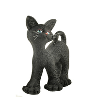 Polyresin hotsale walking halloween black cat crafts & gift for cat lovers