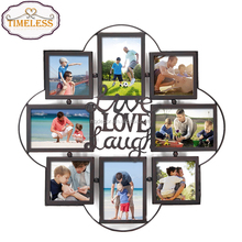 Factory Directly Decorative Iron Metal Wall Hanging Collage Picture Photo Frame