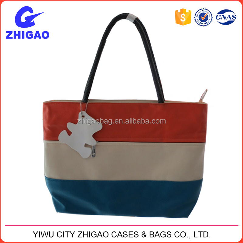 colorful spring/summer trendy pu young girl handbag
