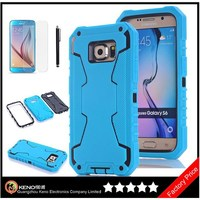 Keno TPU Phone Case Silicone Phone Case, Robot Series 3 in 1 Combo Hybrid Defender High Impact Body Armor Case for Samsung S6