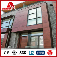 wooden solid aluminum panel with PVDF coating for exterior/interior wall decoration