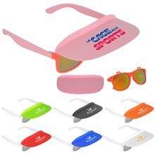 Wholesale custom printed logo clip visor sunglasses