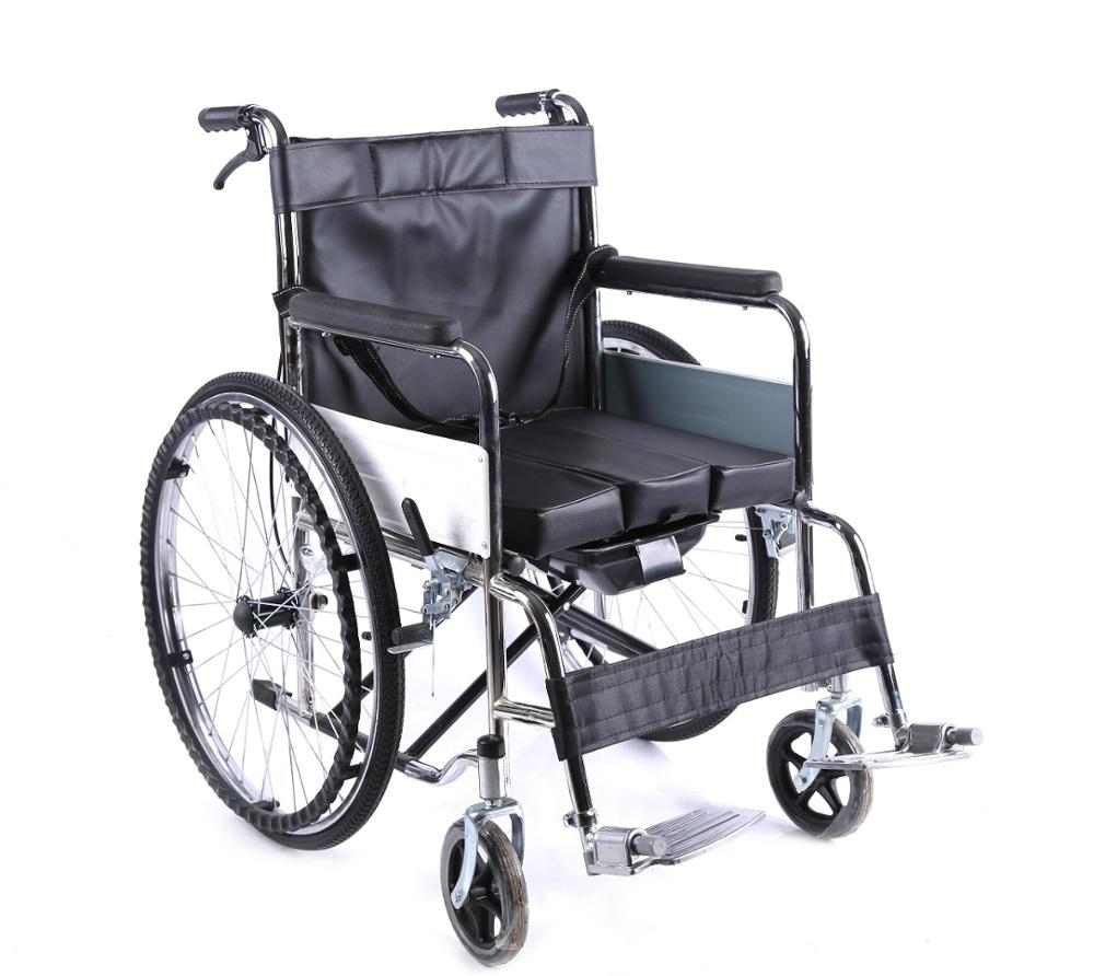 Hot Sale Lightweight Remote Travel Folding Karma Wheelchair Dubai With Toilet