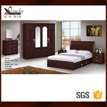 Wooden Flat Pack Queen Bedroom Furniture Sets PVC Ceiling Designs For One Bedroom Modular Homes