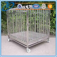 low price foldable metal wire dog cage and modular stainless steel dog cage