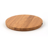 Customize logo heart shape fast charging Wooden Portable wireless Charger