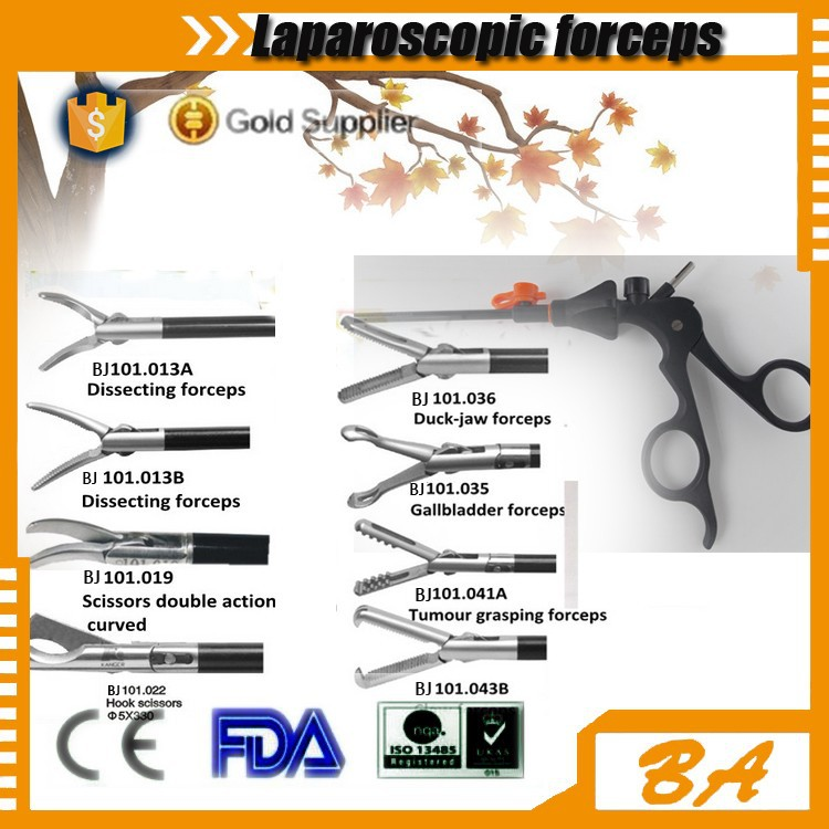Laparoscopic graspers/forceps/surgical instrument parts of forceps/made in china directly supply