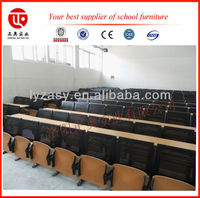 Auditorium table and chairs with folding seat