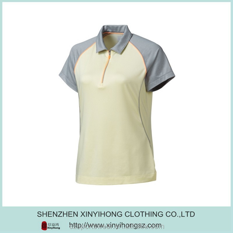 New design Coolpass moisture management Top quality polyester golf polo t shirts for women