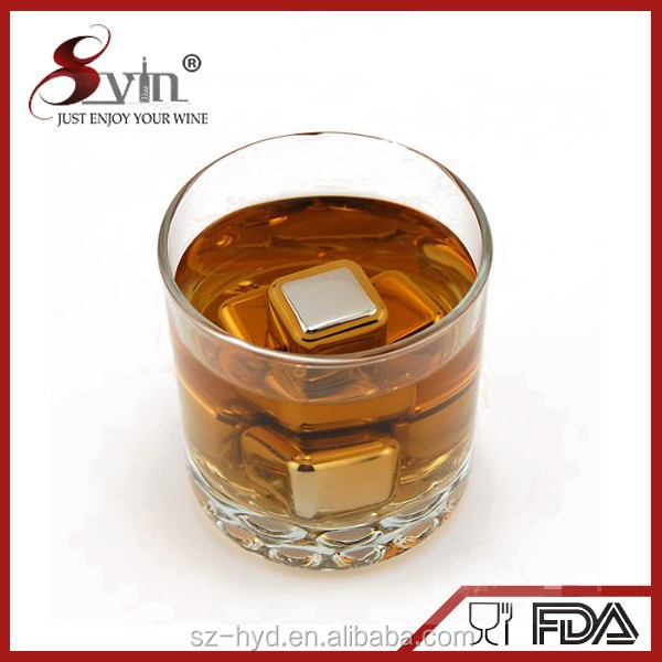 Travel necessary Steel Whisky Stone Freez Whiskey Chilling Rocks Cooler Drink Chiller(NT-WS13)