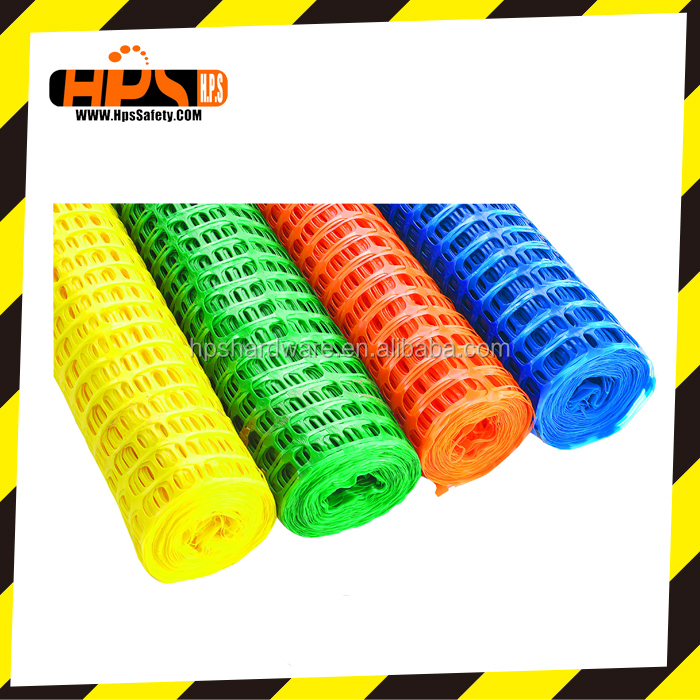 Plastic safety fence plastic safety net yellow orange and other color barrier fence for safety