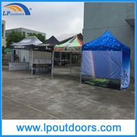 Outdoor hexagon steel frame folding gazebo pop up tent
