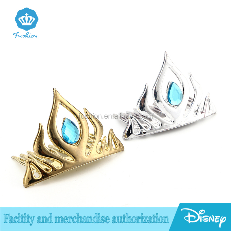 Hot Selling Plastic Frozen gold Silver headband hari accssory wedding Anna Elsa diamondPrincess Tiaras