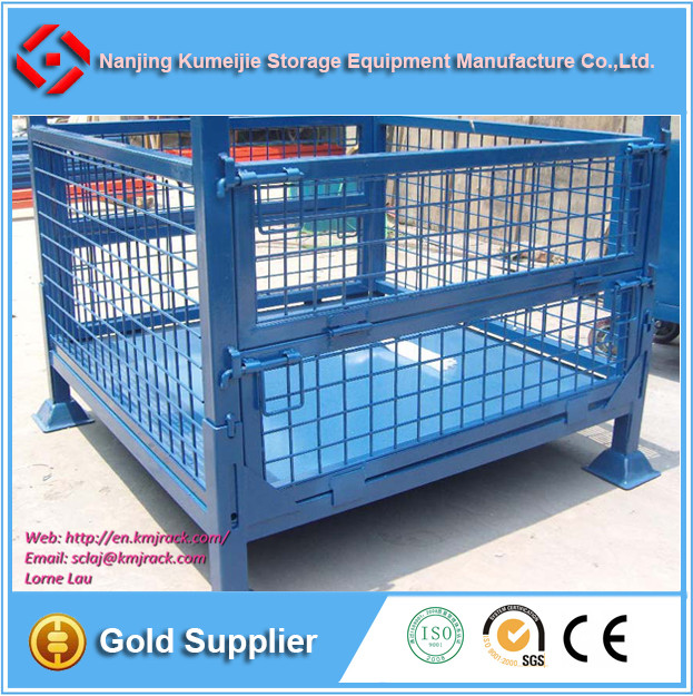 Collapsible Steel Metal Pallet Storage Cage