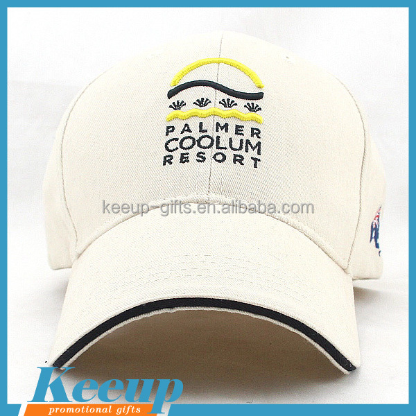Custom 6-panel office & school supplies baseball cap with D-ring slider