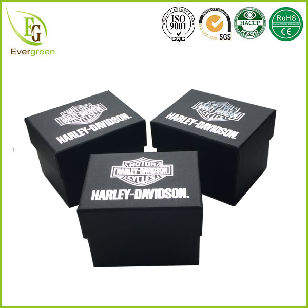high quality new design custom printed luxury black box packaging with insert