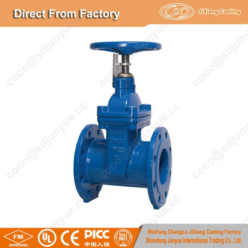 ductile iron BS 5163 NON-RING STEM gate valve
