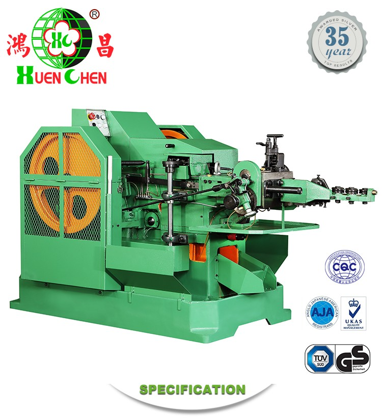 High speed cold heading machine for rivet and screw