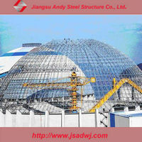Large span dome grid steel structure