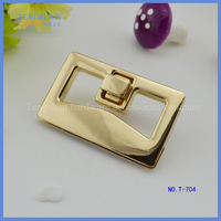 manufacture zinc Alloy turn lock for lady's handbag wholesale free sample
