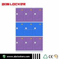 factory supplier ABS plastic lockers school facility
