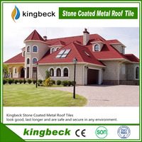 Good Weather Resistance Kingbeck Stone coated Chip Metal Roof Tile
