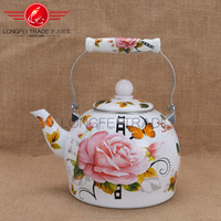 ceramic handle useful enamel cool hot water kettle/enamel cast iron kettle/enamel white kettle
