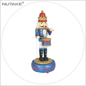 Easter nutcracker figure music box gift wooden craft artificial crafts Resin Crafts