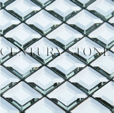 low pricing Five facets glass silver mirror beveled bathroom kitchen tile