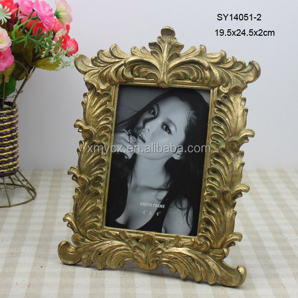 Gold color baroque picture frame wholesale view baroque for Craft picture frames bulk