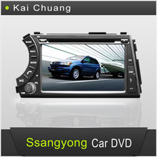 2 din 7inchTouch Screen Car DVD Radio Ssangyong Actyon with GPS