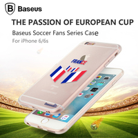 Baseus For 2016 UEFA EURO Case,Original Baseus Soccer Fans Series TPU Back Case Cover For iPhone 6S 4.7'' PB-098
