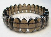 gemstone smoky quartz fashion bracelet