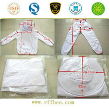 cheap pure cotton various sizes bee protection suit for beekeeping