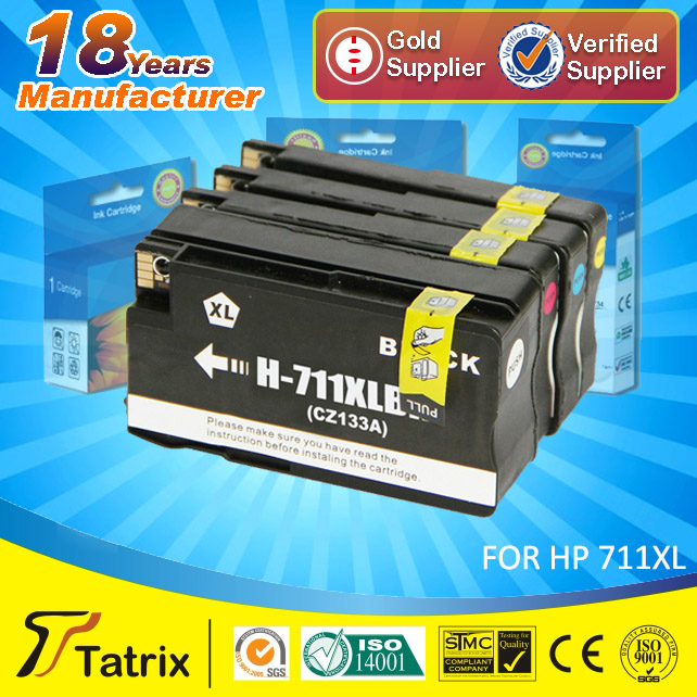 Compatible for HP 711XL ink cartridge, 24 months warranty