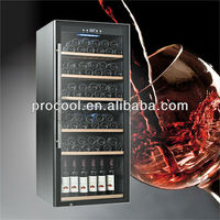 upright compressor storage display refrigerator wine cooler