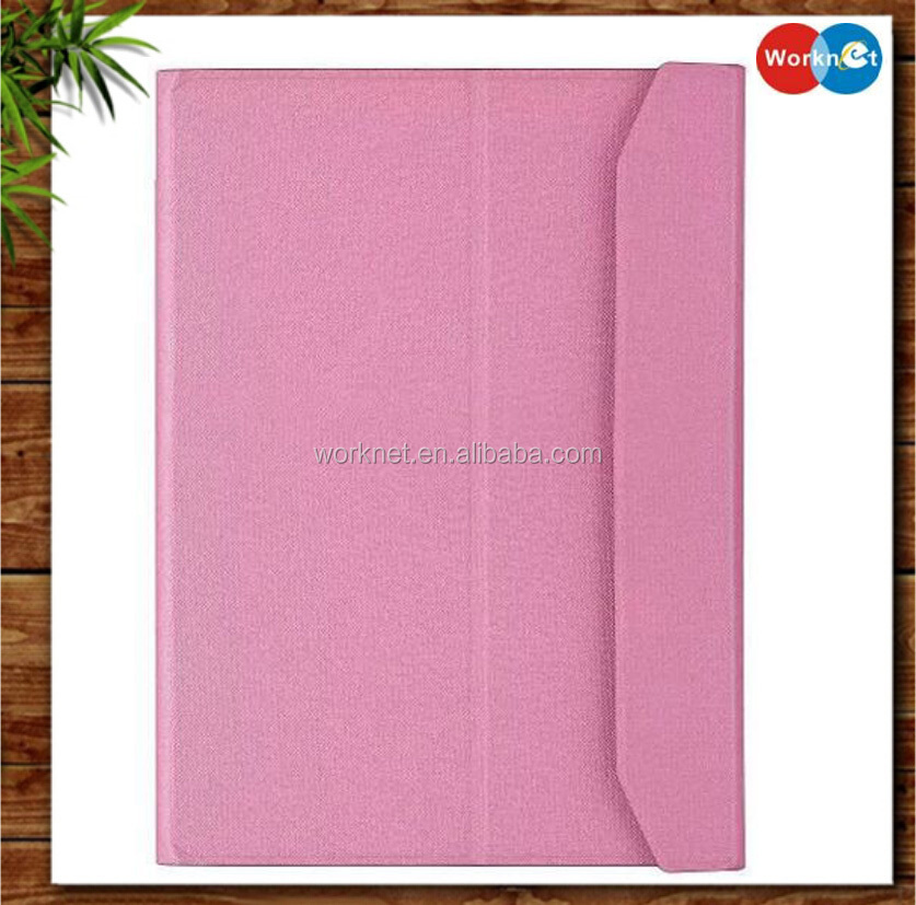 "high quality folio leather stand case cover with wireless bluetooth keyboard for Apple iPad Pro 12.9"" in Pink"